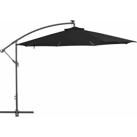 Cantilever Umbrella with Aluminium Pole 350 cm Black