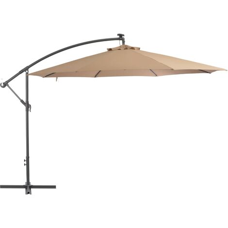 Cantilever Umbrella with Aluminium Pole 350 cm Taupe - Brown