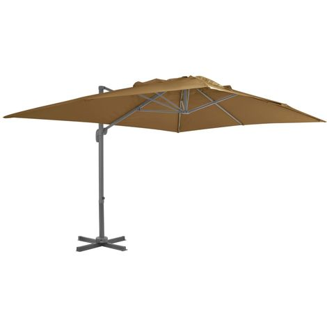 Cantilever Umbrella with Aluminium Pole 400x300 cm Taupe
