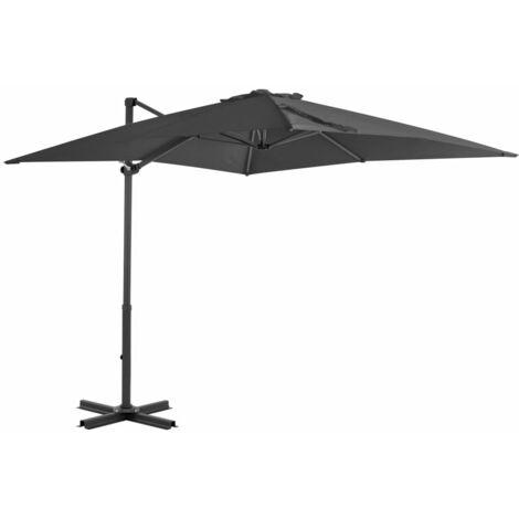 Cantilever Umbrella with Aluminium Pole Anthracite 250x250 cm