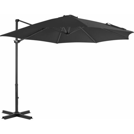 Cantilever Umbrella with Aluminium Pole Anthracite 300 cm