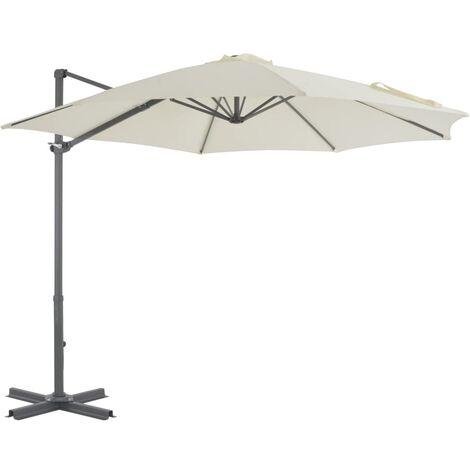 Cantilever Umbrella with Aluminium Pole Sand 300 cm