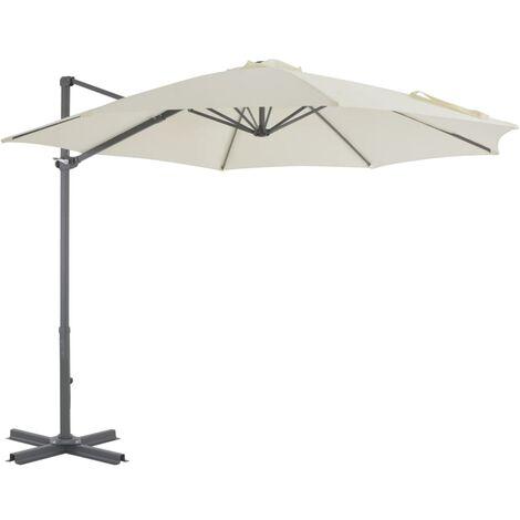 Cantilever Umbrella with Aluminium Pole Sand 300 cm - Beige