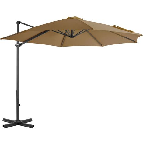 Cantilever Umbrella with Aluminium Pole Taupe 300 cm