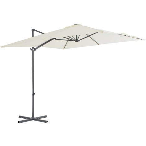 Cantilever Umbrella with Steel Pole 250x250 cm Sand
