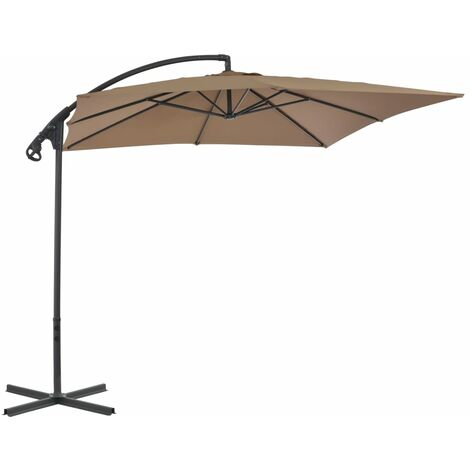 Cantilever Umbrella with Steel Pole 250x250 cm Taupe
