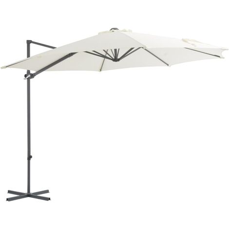 Cantilever Umbrella with Steel Pole Sand 300 cm