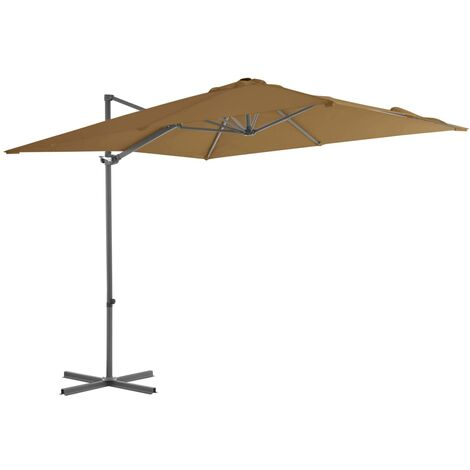 Cantilever Umbrella with Steel Pole Taupe 250x250 cm
