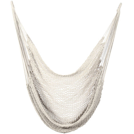 Canvas Swing Chair Hammock Hanging Seat Rope Porch Patio Garden Indoor Outdoor Weight capatity--120kg beige Type A String