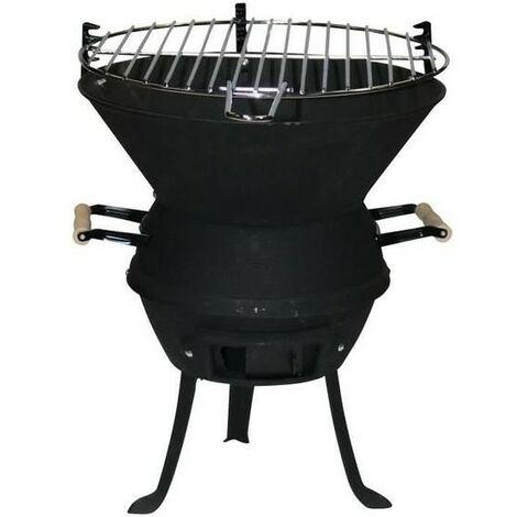 CAO - Barbecue fonte acier à l'ancienne - D: 38 cm - H: 49.5 cm