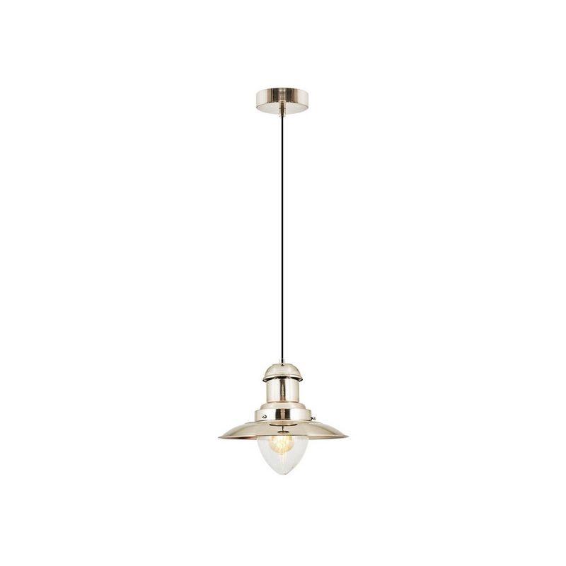 Homemania - Cap Haengelampe - Kronleuchter - von Decke - Silber, Schwarz aus Metall, Glas, 32 x 32 x 120 cm, 1 x E27, Max 40W