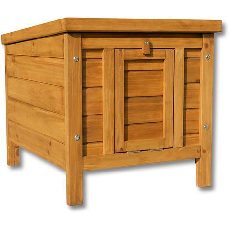 Capanna in legno per conigli, roditori o altri piccoli animali. Cuccia per cani