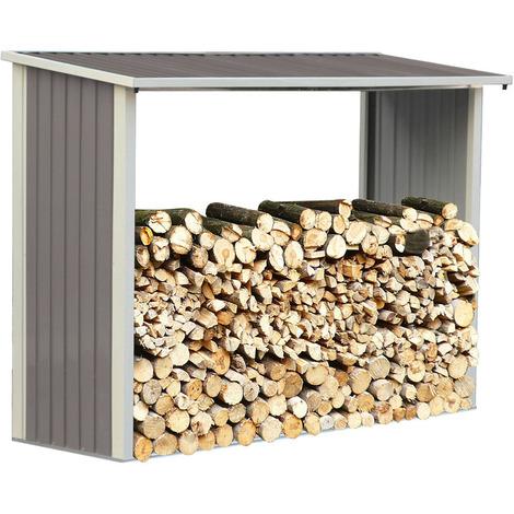 Capanno per la legna in metallo - 2.15m²