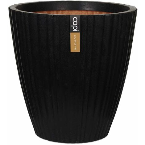 Capi Jarrón cónico Urban Tube KBLT802 negro 55x52 cm