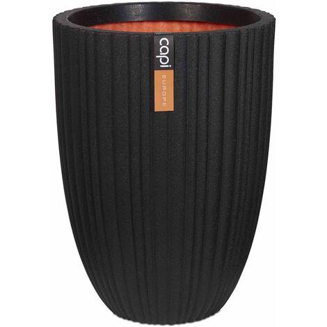 Capi Jarrón Urban Tube elegante bajo 46x58 cm negro KBLT783