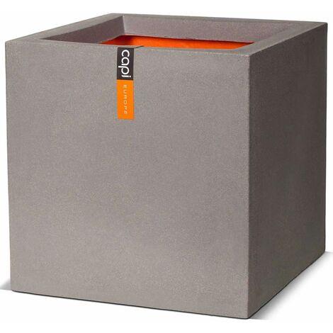 Capi Macetero cuadrado Urban Smooth 30x30x30 cm gris KGR902