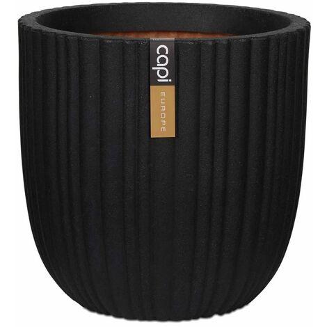 Capi Macetero Urban Tube negro 43x41 cm KBLT933