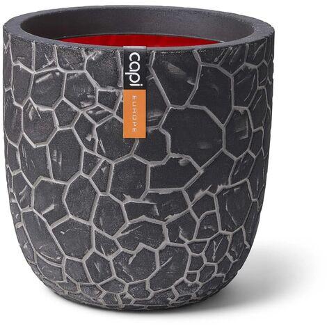 Capi Planter Ball Clay 35 x 34 cm Anthracite - Black