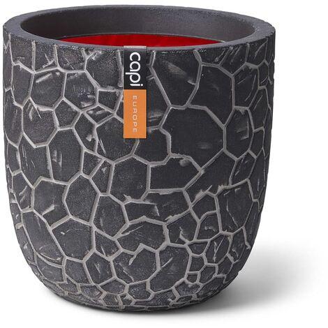 Capi Planter Ball Clay 43 x 41 cm Anthracite - Black