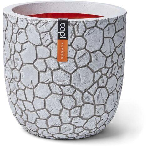 Capi Planter Ball Clay 43 x 41 cm Ivory - White