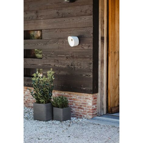 Capi Planter Nature Rib Square 40x40x40 cm Dark Grey - Grey