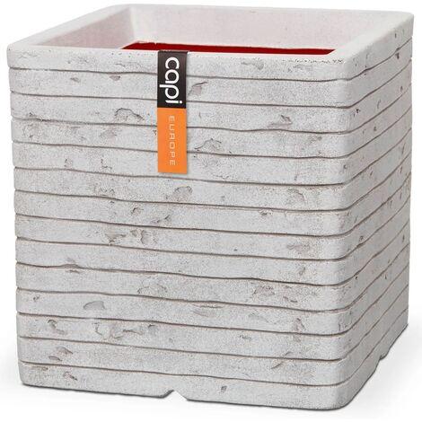 Capi Planter Nature Row Square 30x30 cm Ivory KRWI902