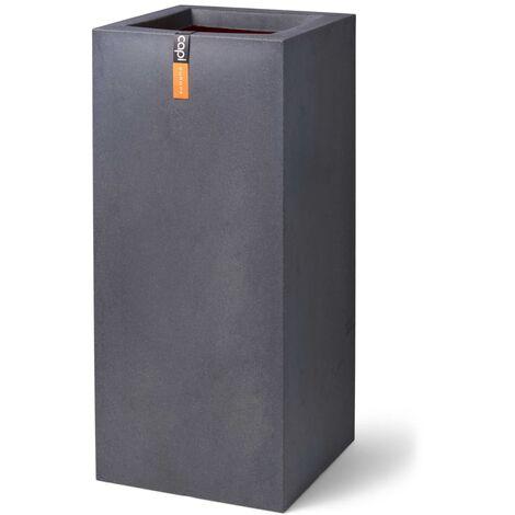 Capi Planter Urban Smooth Rectangle 36x79 cm Dark Grey - Grey