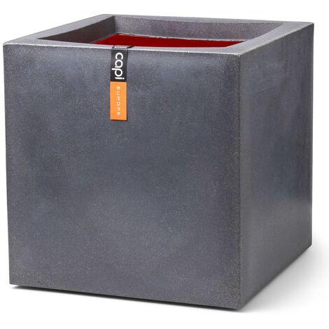 Capi Planter Urban Smooth Square 40x40x40 cm Dark Grey - Grey