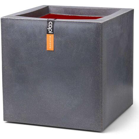 Capi Planter Urban Smooth Square 50x50x50 cm Dark Grey - Grey
