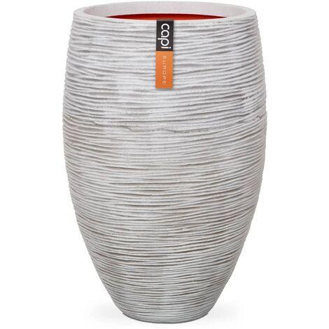Capi Vase Nature Rib Elegant Deluxe 40x60 cm Ivory KOFI1131