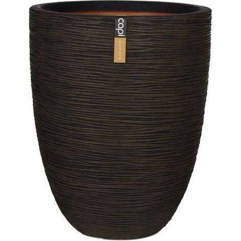 Capi Vase Nature Rib Elegant Low 46x58 cm Brown KOFB783