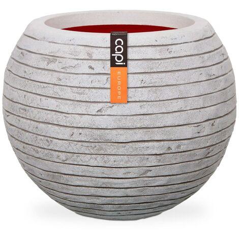 """main image of """"Capi Vase Nature Row Ball 40x32 cm Ivory KRWI270 - White"""""""