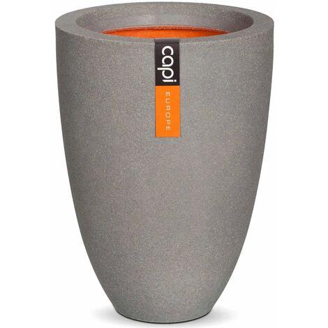 Capi Vase Urban Smooth Elegant Low 26x36 cm Grey KGR781