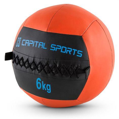 Capital Sports Epitomer Set 5x Wall Ball 6kg cuir synthétique orange