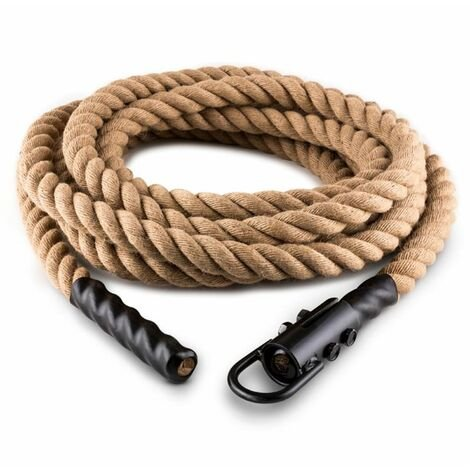 Capital Sports Power Exercise Rope with Hook 12m 3.3cm Hemp