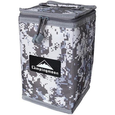 CAPMINGMOON Cubierta de cilindro de gases al aire libre Camping Gases de cocina Tanques Protector Bolsa de almacenamiento Bolsa de camuflaje portatil Paquetes de lamparas