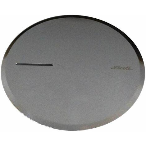 Capot ABS chromé pour bonde de douche Turboflow 90 mm TB2