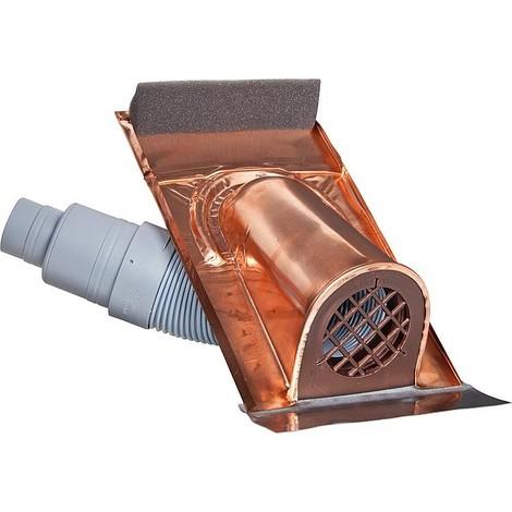 capot d'aeration type TON avec flexible PVC, couleur rouge