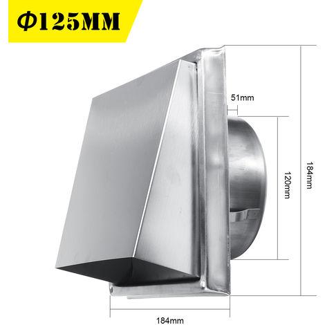 Capot de Cheminée Chapeau Grille Couverture Vent Ventilation Dia.125mm 5 INCH raccord de tuyau