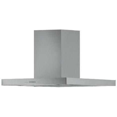 Cappa aspirante in acciaio per cucina a isola schermo touch luce led 90x65cm