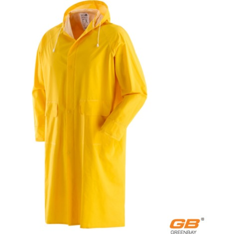 newest d6767 294e5 Cappotto Impermeabile antipioggia con cappuccio in PVC colore giallo Taglia  unica XL