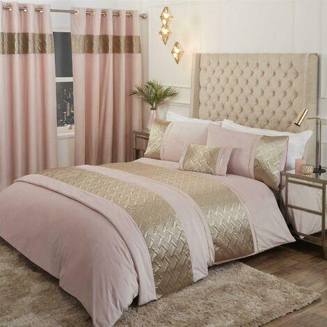 Capri Blush 30x50cm Boudoir Filled Cushion Bed/Sofa Accessory Velvet