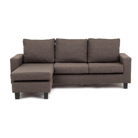 Capri Corner Sofa Chocolate Brown - Left - color Chocolate