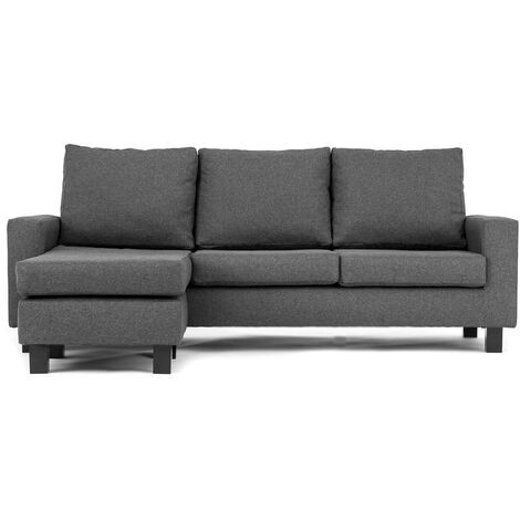 Capri Corner Sofa Dark Grey - Left - color Grey