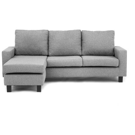 Capri Corner Sofa Light Grey - Left - color Light Grey