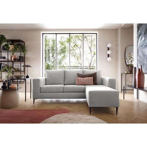Capri Corner Sofa Light Grey - Right - color Light Grey