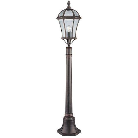 CAPRI - OUTDOOR POST LAMP 1 LIGHT RUSTIC BROWN 950mm