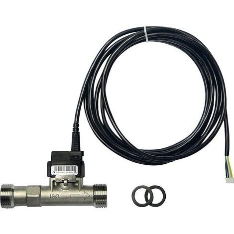 """capteur combiné VFS 1-12l/min 1-100°C, 3/4"""" male, acier"""