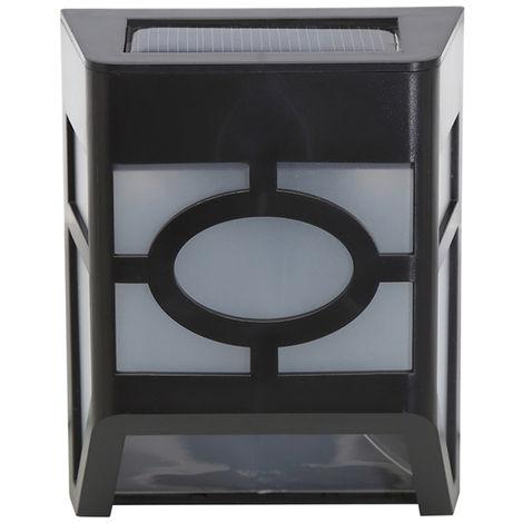 Capteur De Lumiere a 2 Del Alimente a L'energie Solaire, Paquet De 1 - Blanc