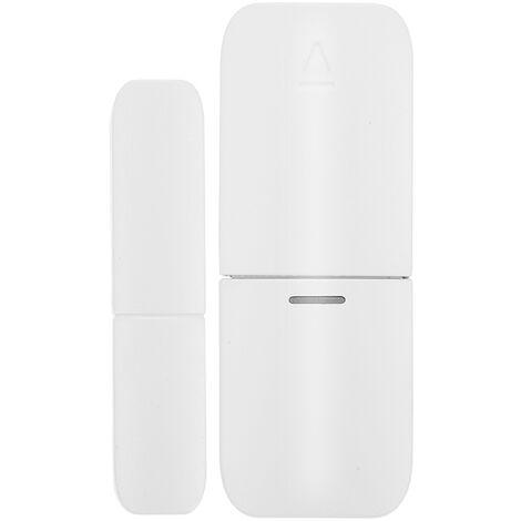 Capteur magnetique de porte sans fil 433 Mhz, detecteur d'alarme de porte et de fenetre domestique, utilise avec la passerelle (livre avec batterie)